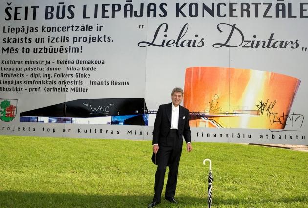 Diriģents IMANTS RESNIS. Liepājā,  2008. gada 5. septembrī plkst. 13.05.